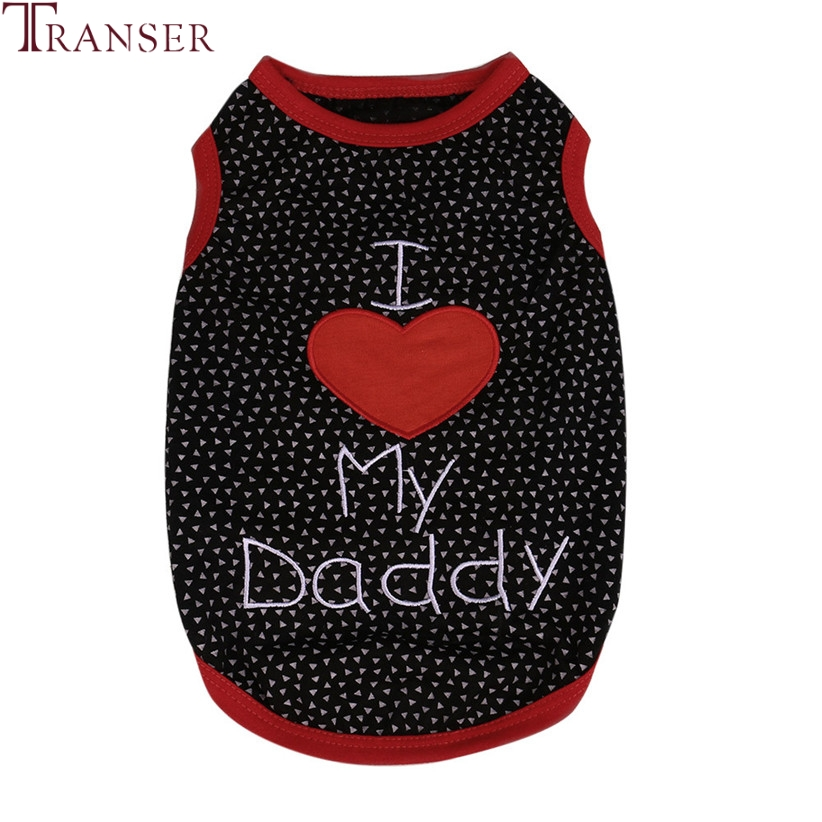 Transer Pet Dog Clothes I LOVE MY MOMMY DADDY Sleeveless Summer Dog Vest Tank Top For Small Dogs 80118