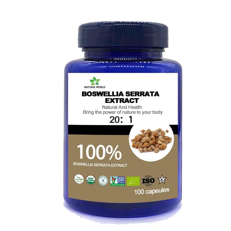 Natural Boswellia Serrata Extract 20:1   100pcs/bottle 100%  Boswellia Serrata Extract 20:1