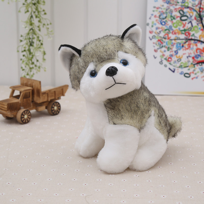 Stuffed Animals Toys Kids Husky Dog Plush Toys For Girls Boys Husky