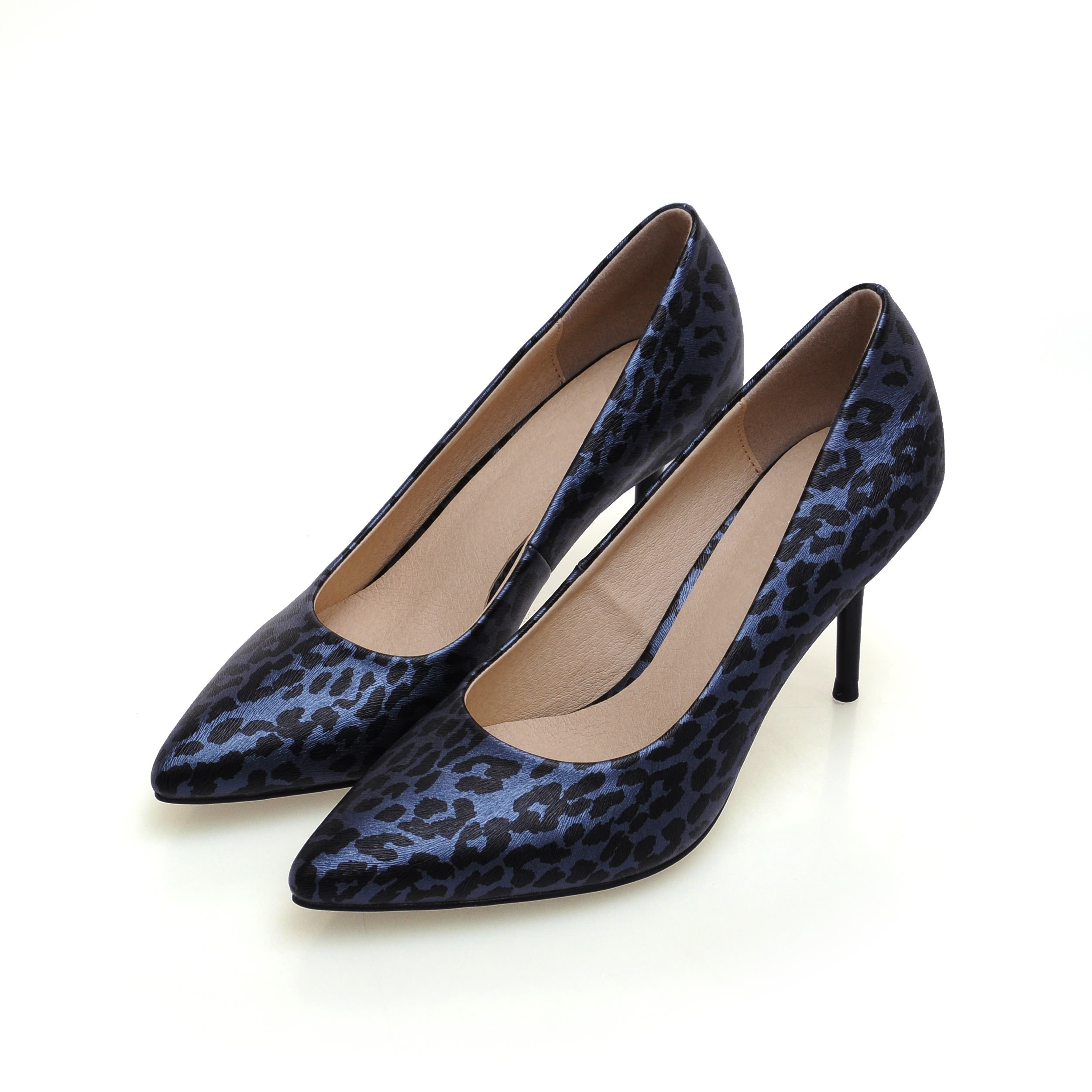Womens Shoes 2017 New Fashion Genuine Leather Pumps Plus Size 34-41 Ladies Pointed Toe Leopard Print High Heels Shoes SMYBK-72 new 2017 spring summer women shoes pointed toe high quality brand fashion womens flats ladies plus size 41 sweet flock t179