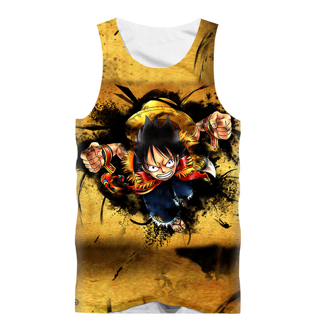 00a1943e555f Fashion Sexy Tank Tops Men Sleeveless Vest Anime Dragon Ball Goku 3D Print  Fitness Muscle Bodybuilding