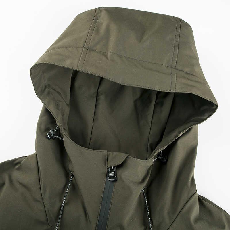 Сила тигра 2019 мужские Весенние куртки с капюшоном Повседневная мужская куртка-ветровка, ветрозащитная куртка-бомбер мужская куртка с хлопковой подкладкой верхняя одежда