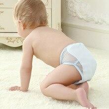 5 шт., хлопковые детские подгузники, детские подгузники, штаны можно стирать с помощью сетчатых штанишек newbear