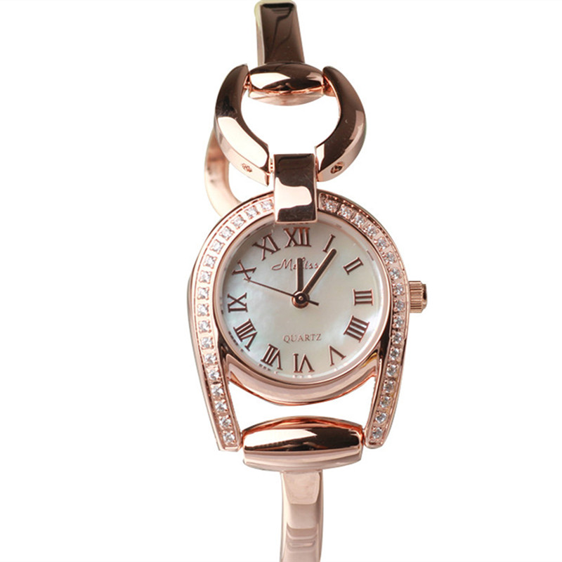 Melissa Brand Women Simple Fashion Bracelet Watch Thin Bangle Watches MINI Shell Jewelry Wrist watch Vintage Roman Montre Femme