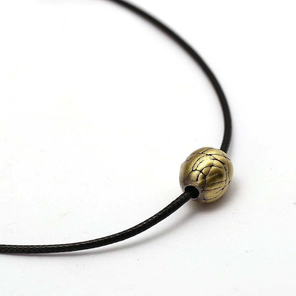 Metal Assassin Necklace Apple of Eden Pendant Metal Colier Choker Online Game Jewelry Adjustable Men Women Gift Steampunk Kolye