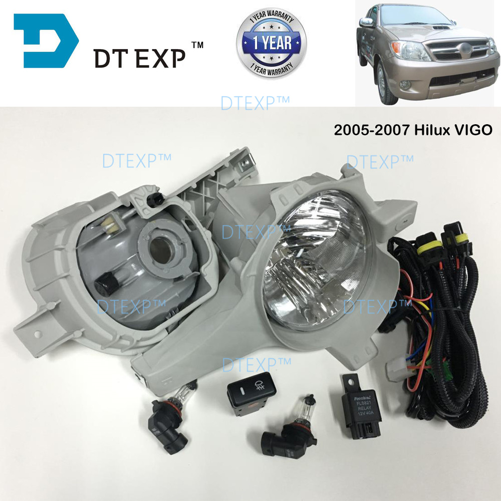 FOG LAMP FOR old HILUX VIGO FRONT FOG LAMP full set with bulb and wire 2000-2018