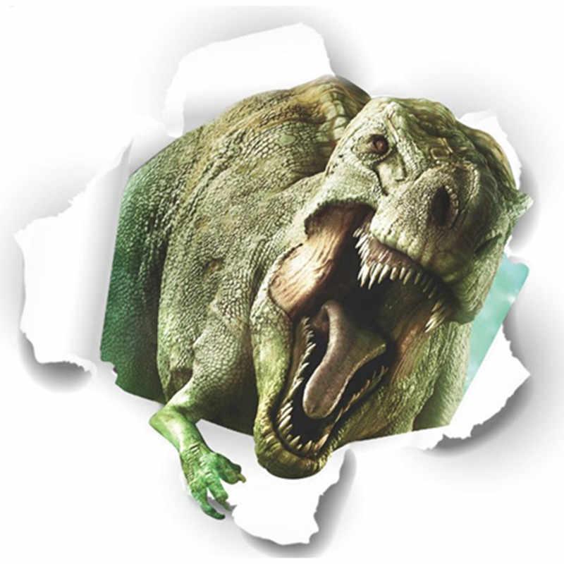 3D динозавров сломанной стены чтобы избежать Юрского периода животный мир виниловые наклейки детская комната Детская украшения фантастического фильма плакат 50*50 см