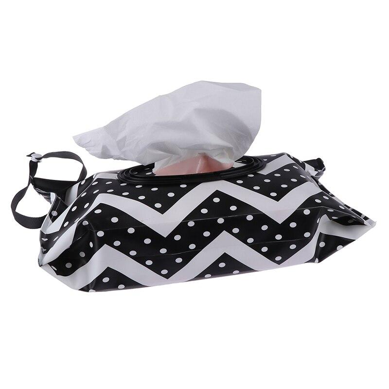 Влажные салфетки мешок защелкивающийся ремешок салфетки контейнер раскладушка косметический чехол клатч экологически чистый легко переносить чистящие салфетки чехол