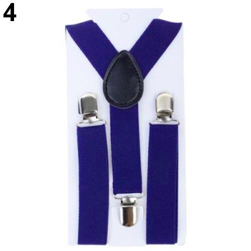 Bluelans Lovely Kids Adjustable Clip-On Braces Boys Girls Y-Back Suspender Child Elastic