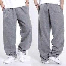 Модная уличная одежда в стиле хип-хоп, тренировочные Мужские штаны для бега, джоггеры, хлопковые осенне-зимние спортивные штаны, Свободные мешковатые спортивные брюки, мужская одежда