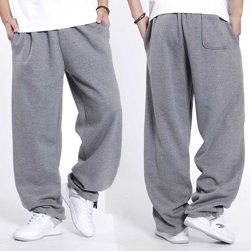 Fashion Hip Hop Streetwear Sweatpants Men Joggers Cotton Autumn Winter Sweat Pants Loose Baggy Track Trousers Male Clothes