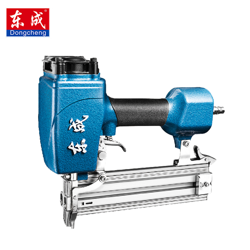 цена на Dongcheng FF-T50DC Nail Gun Air Brad Nailer 25-50mm Straight Nail 1.4mm Diameter Stapler 4-8 Bar Gun 8mm Pipe
