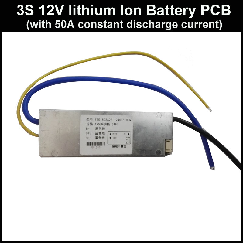 3s 12v Pcb Suitable For 11.1v 12.6v Li-ion Battery With 50a Continuous Discharge Current For 12v Li-ion Battery 18650 Or Lipo Beneficial To The Sperm Active Components