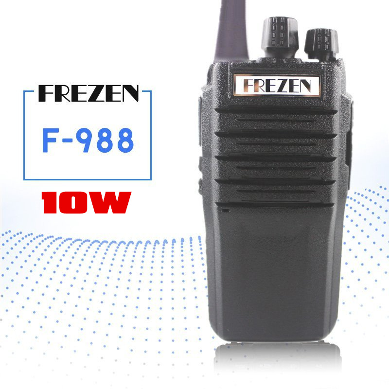 FREZEN 10W Walkie Talkie F-998 Waterproof UHF Handheld Interphone Two Way Radio Anti-noise Big Speaker Hunting Radio Transceiver