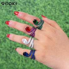 Женское Обручальное Кольцо godki роскошное обручальное кольцо