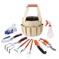 Garden Tool Set 10 Pcs /set Multi Functional Garden Kit Practical/Trowel/Rake