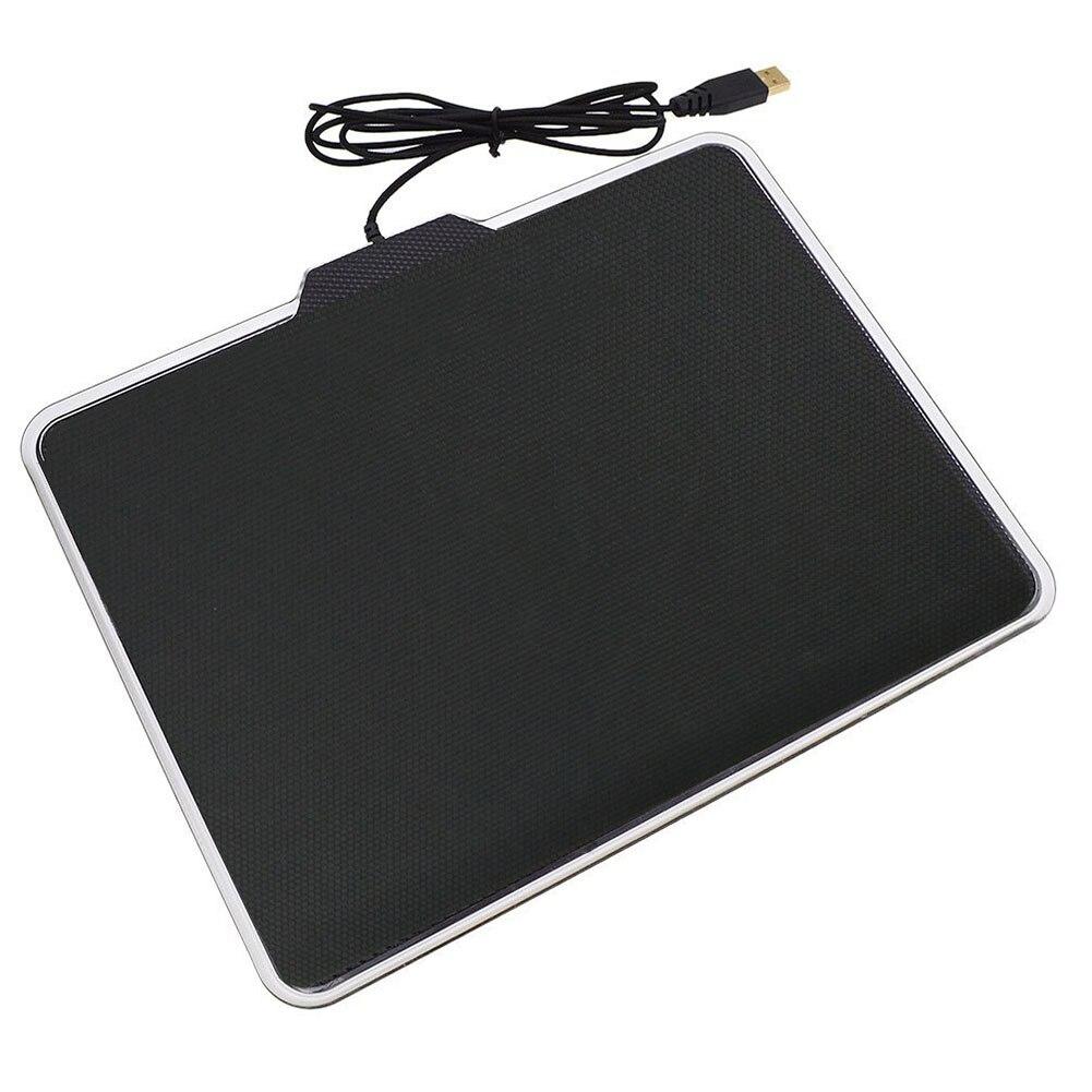 RGB Gaming Mouse Pad Anti-Silp Fond De Silicone USB Éclairage Tapis pour PC Jeu LOL Overwatch JLRL88