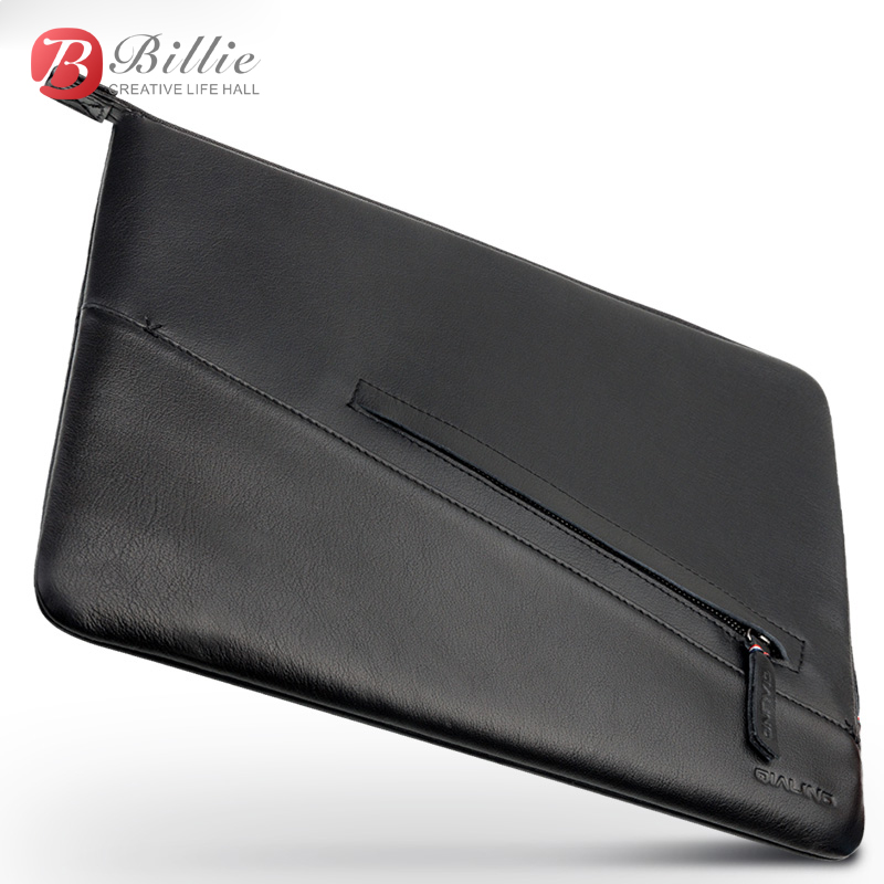 Image 5 - Laptop Sleeve Pouch Case Bag For New Macbook Pro 13 inch Case Genuine Leather For macbook 13 A1706/A1708 Notebook Laptop Cover-in Laptop Bags & Cases from Computer & Office