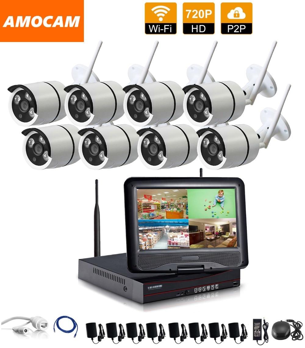 1280*720P HD Wireless Outdoor Network/IP Security Camera  8CH 720P HD WIFI NVR Wireless CCTV Surveillance Systems Home Security j47b as cameras do ip de hd apoiam hd 720p 1280 720 deteccao de movimento mascara da privacidade camera bala