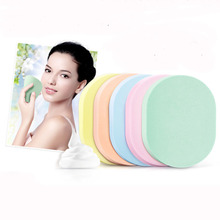 5Pcs Natural Wood Pulp Sponge Cellulose Compress Cosmetic Puff Facial Washing Face Care Cleansing Makeup Remover Tools