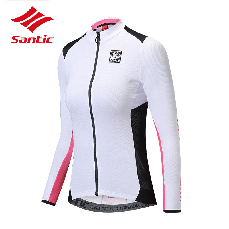 Santic Womens Long Sleeve Cycling Mountain Top Jersey Ciclismo Anti-UV Breathable Road Bike Bicycle Jersey Top Shirt ClothesSantic Womens Long Sleeve Cycling Mountain Top Jersey Ciclismo Anti-UV Breathable Road Bike Bicycle Jersey Top Shirt Clothes