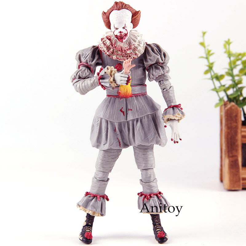 Stephen Kings It NECA Pennywise Figure Action Horror Terror Doll PVC Collection Model ToyStephen Kings It NECA Pennywise Figure Action Horror Terror Doll PVC Collection Model Toy