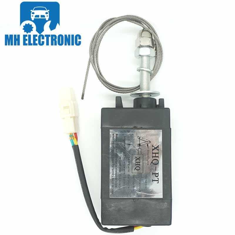 MH Elektronische Diesel Vlam Uit Apparaat Engine Stop Solenoid Power On/Off Pull Type voor Generator Onderdelen XHQ-PT 24 v