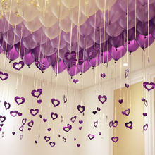 100pcs Heart Laser Sequins Balloons Pendant Balloon Accessories Wedding Decoration Party Marriage Valentines Day Decor Chanukah