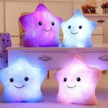 Led Light Soft Plush Pillow Luminous Toys Colorful Stars Love Shape Kids Adult Birthday Christmas Gift For Children Girls