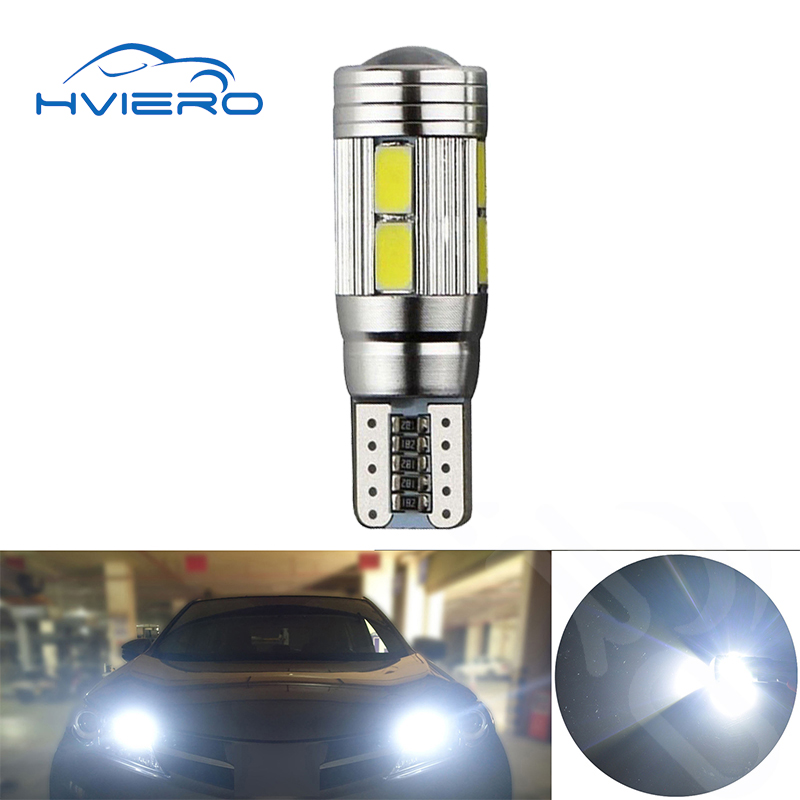 1x T10 w5w led canbus 5630 5w5 10SMD interior light car led lamp auto lamp error free reverse Brake Turn Signal blue 10 smd D габаритные огни lx t10 10 5630 20