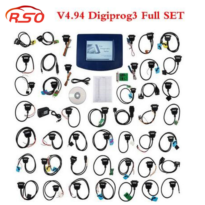 Top quality Digiprog3 Odometer Master Programmer V4.94 Entire Kit Digiprog iii Mileage Programmer unit/full with all cables ...