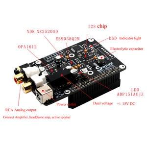 Image 3 - Lusya ES9038Q2m Digital broadcast Decoder board OPA1612 Op I2S 32bit/384K DSD128 DAC for Raspberry pi 2B 3B 3B+ 4B  G3 001