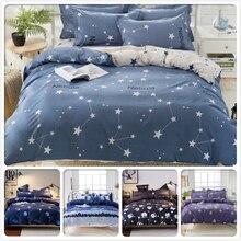 Пододеяльник с рисунком голубого галактики звездного неба, 3 шт., 4 шт., постельный комплект для детей, хлопок, мягкая ткань, постельное белье, 1,5 м, 1,8 м, 2 м, один размер королевы