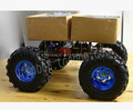 4WD Cross country Smart car chassis/25 motor with Hall sensor and 130mm diameter wheels,metal car body,Free shipping