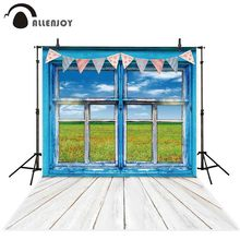 Allenjoy backdrops for photography studio spring window Easter flags indoor children background photo shoot photobooth photocall