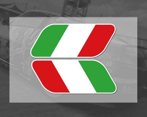 2017 новый 2шт итальянский Италия флаг эмблемы знак наклейки крыло наклейки для мотоциклов стайлинга автомобилей декор для Феррари Фиат Фольксваген Гольф Шкода