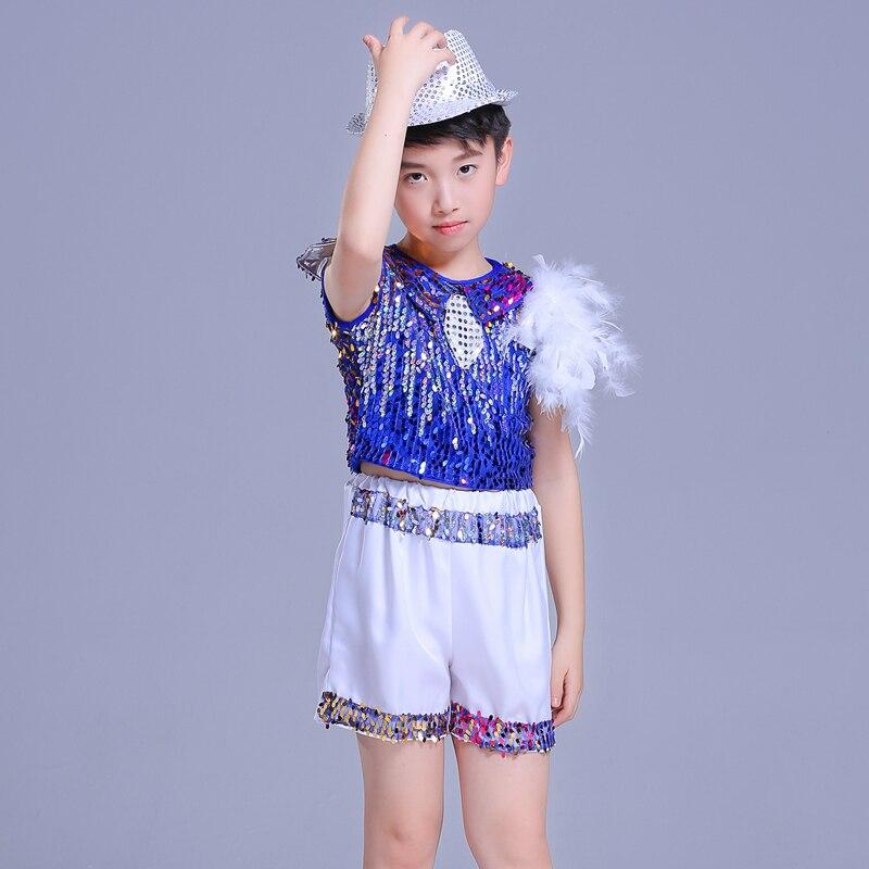 3af68ae4d Children s Costumes Modern Hip Hop Kindergarten Performances Sequins ...