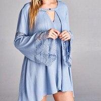 Women Fashion Lace Chiffon TopsBlouse Long Sleeve Solid Casual V Neck Shirt Blouse Camisa Mujer Blusas Com Renda Haut Femme SY9