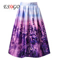 Endless Lavender Romance Pleated Midi Skirt 2016 New