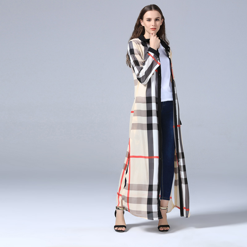 Plaid Cardigan Islamic Clothing Long Dress Muslim Dress Arab Women Fashion Robe Dress Abaya Ethnic Muslim Women Kaftan Dress (3)