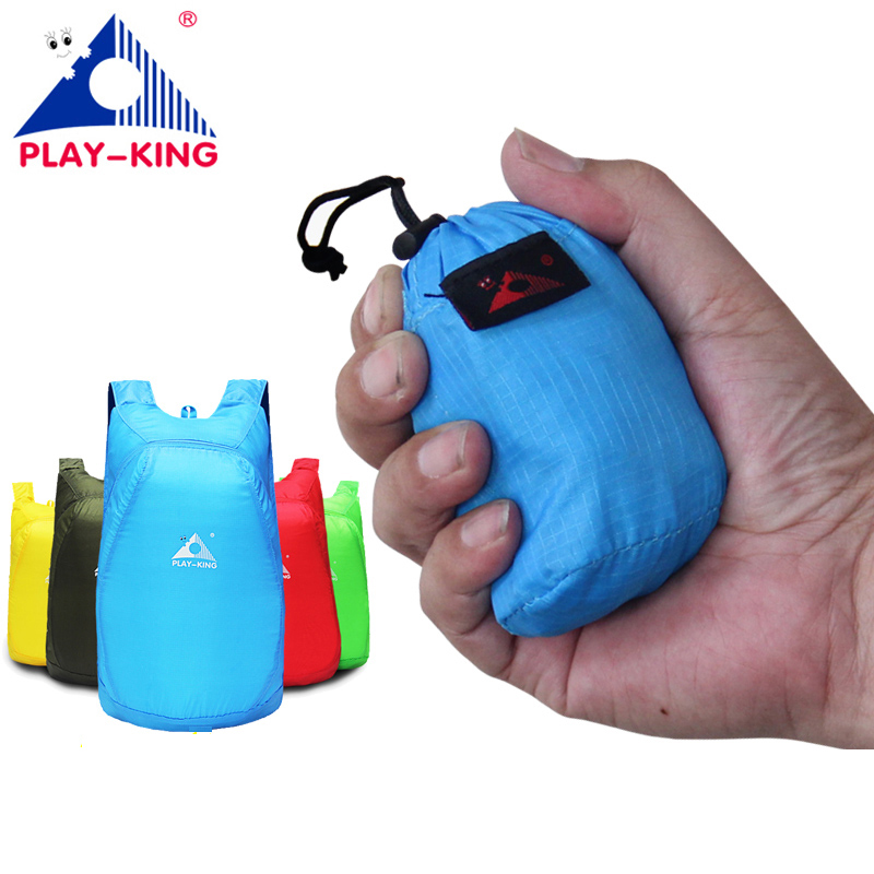PLAYKING Nylon ligero mochila plegable impermeable bolso plegable mochila portátil hombres mujeres mochila para el bolso de compras de viajes