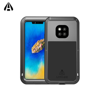 Lovemei Cases For Huawei Mate20 Pro Aluminum Metal + Soft silicone Shock Drop Waterproof Cover for mate20pro All inclusive shell