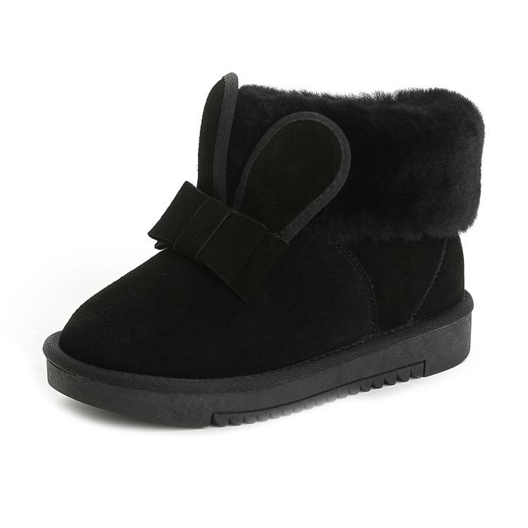 abedake brand font b snow b font font b boots b font 2017 flat casual women