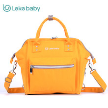 LEKEBABY Multifunction Diaper Bag Travel Maternity Backpack handbag Mother Care Nappy Hobos Baby Stroller Bags For Mom yellow(China)