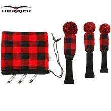 ゴルフクラブフェアウェイウッドとアイアンヘッドカバー毛糸コンビネーションスーツを選択する 4 色