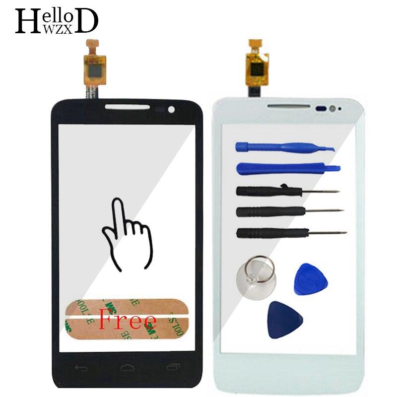 A + + + Alta Touchscreen Touch Screen In Vetro Digitalizzatore Sensore Pannello Per Alcatel One Touch M'Pop OT5020 5020 5020D OT-Adesivo