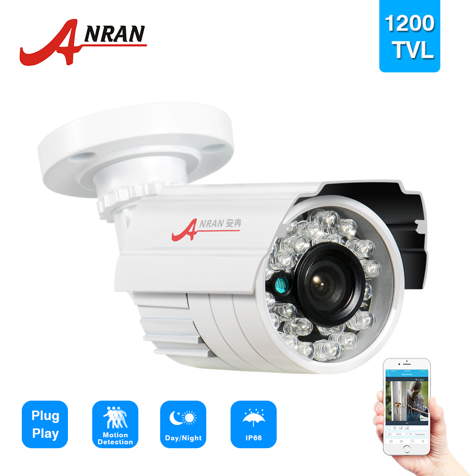 ANRAN HD 1200TVL 1/2.5 SONY CMOS IMX138 Sensor 24 IR Outdoor Night Vision Security Waterproof Bullet Camera CCTV IR-Cut hd 1200tvl 720pccd sensor 36 ir cut outdoor night vision security waterproof bullet camera 16ch ahd dvr recorder surveillance
