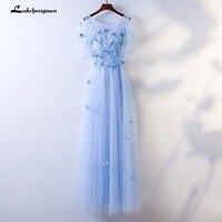 Халат De Soriee синий вечернее платье длинное с коротким рукавом Выпускной Пром Платье Лето Стиль Платья для особых случаев