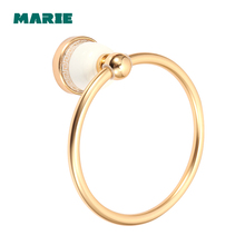 Towel Rings Luxury Aluminum Gold Ring Holder Bath Bar Bathroom Accessories Home Decoration Useful