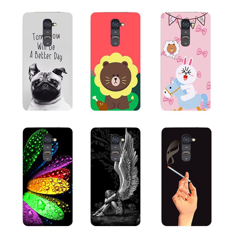 Original Cover For LG Magna H502 H502F H520N C90 G4mini G4C H525N Fashion Print Leaves Bear Soft TPU Silicone Phone Cover Coque image